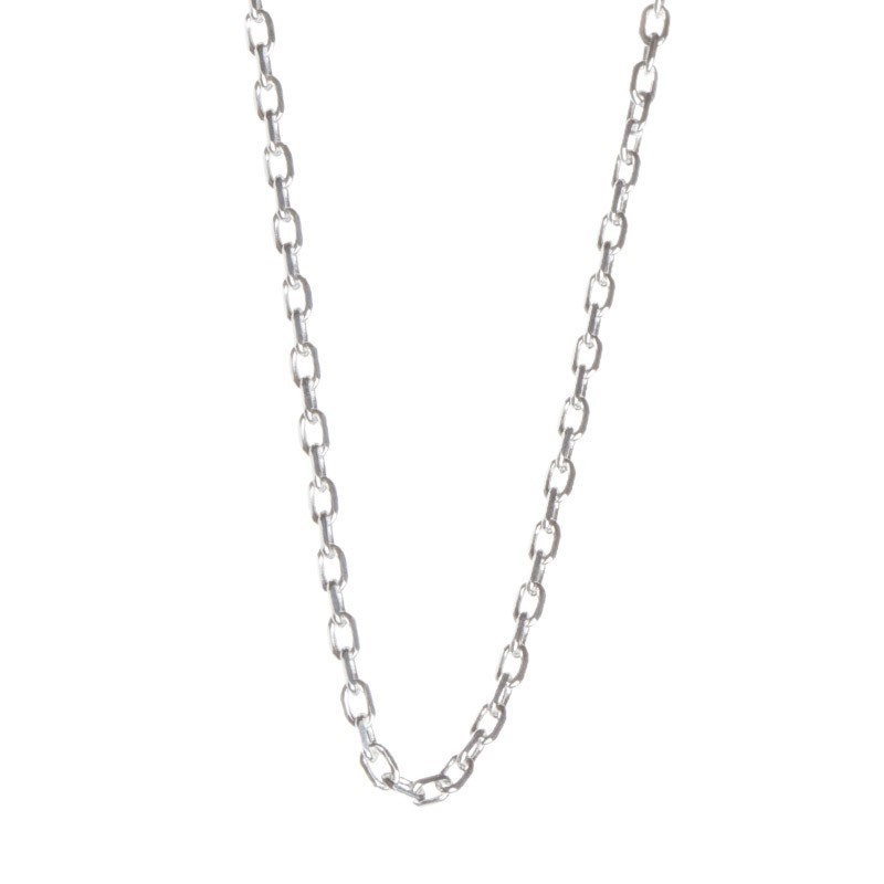 chaine bapteme maille rectangle or blanc