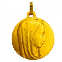 Médaille Vierge gracieuse (or jaune 9ct)