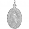 medaille bapteme marie immaculee argent