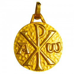 Médaille Le Chrisme alpha (or jaune)