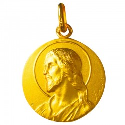 Médaille Christ au regard (or jaune)